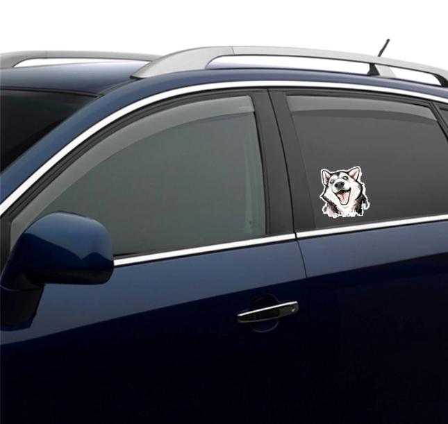 Husky Face Car Sticker