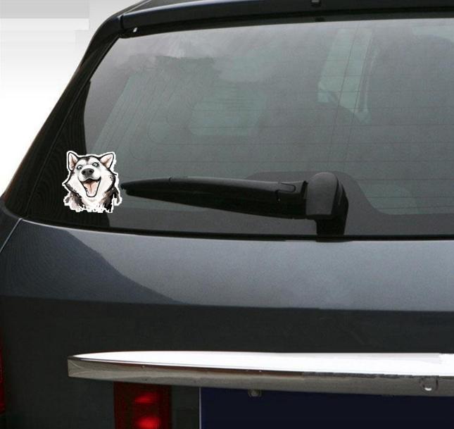 Funny Husky Car Sticker